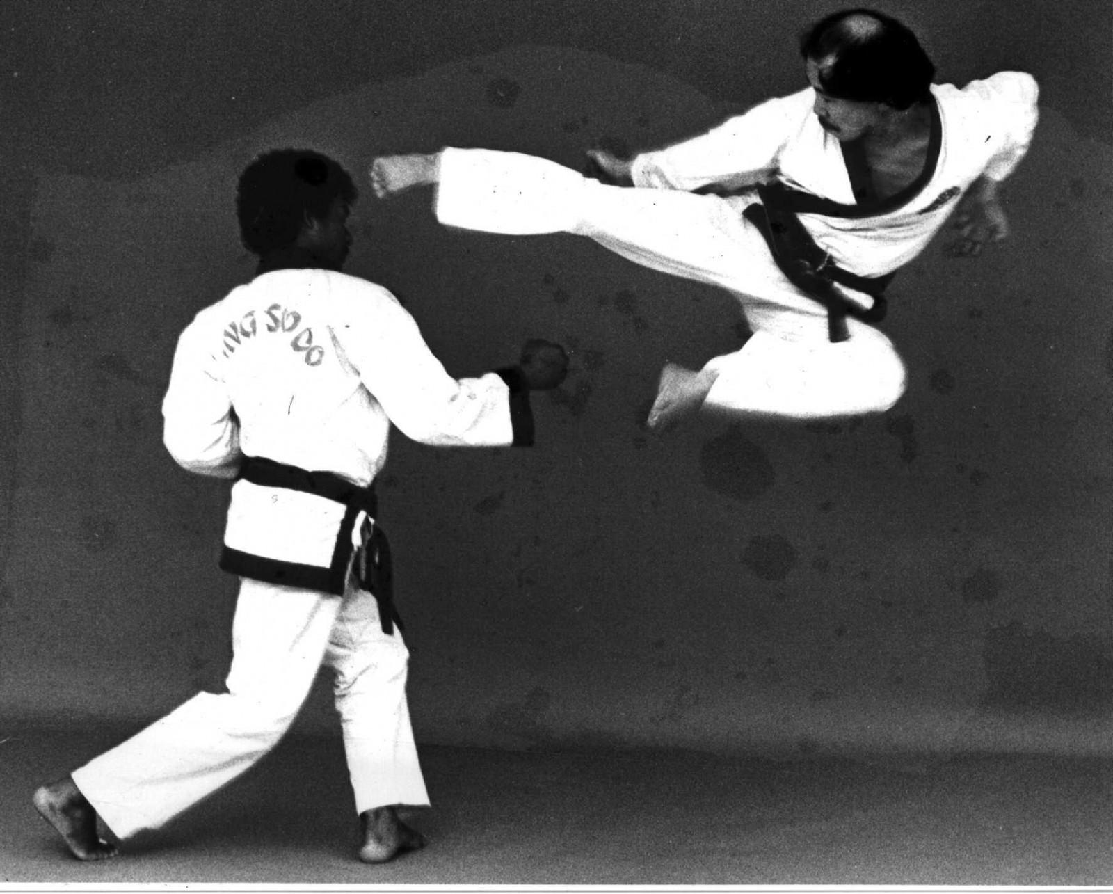 H.C. Hwang Jump Side Kick