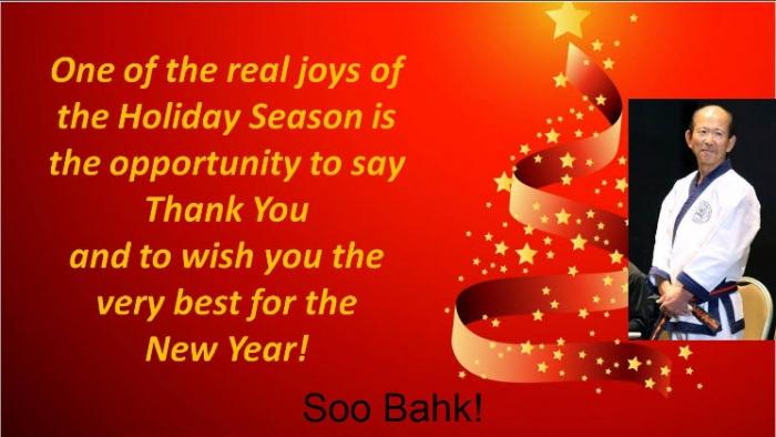 holiday greetings moo duk kwan